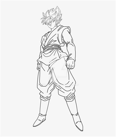 Goku Kleurplaat by Goku Black Saiyan Drawing Goku Black