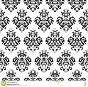 Black And White Seamless Repeating Vector Pattern. Elegant ...