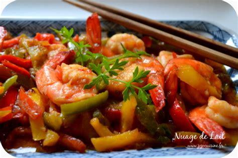 recette cuisine asiatique crevettes piquantes aux poivrons façon asiatique le défi