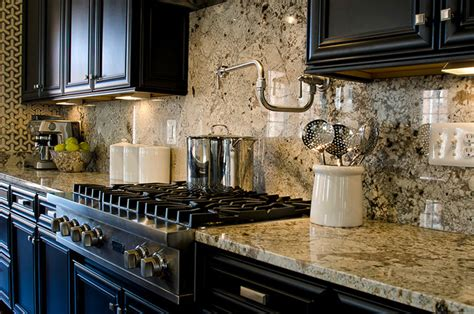 great granite backsplash how to choose between 4 and full height about kitchen granite