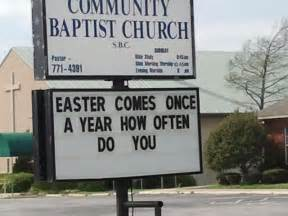 Funny Church Signs Sayings