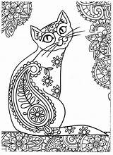 Cat Coloring Adults Adult Getcolorings Sheets Printable sketch template
