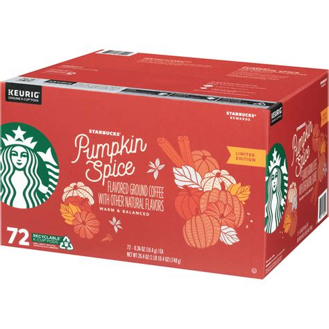 Crafted with natural coffee extracts—starbucks coffee with 2x caffeine to give you an extra boost to take on the day. Starbucks Pumpkin Spice Flavored Coffee K-Cup Pods, 72 ...