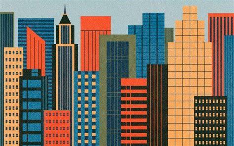 Cityscape Pattern Wallpaper