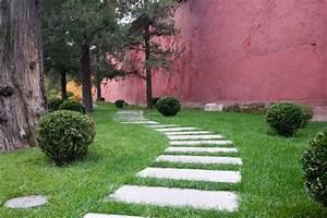 Dalle De Cheminement : dalles dans l 39 esprit du pas japonais all es de jardin ~ Melissatoandfro.com Idées de Décoration