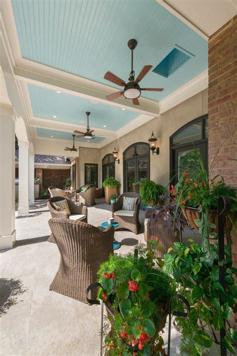charlotte caged ceiling fan patio traditional with tile
