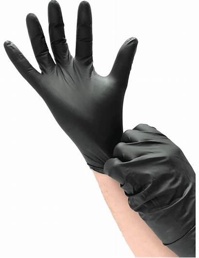 Nitrile Gants Usage Unique Noir Gant Superblack