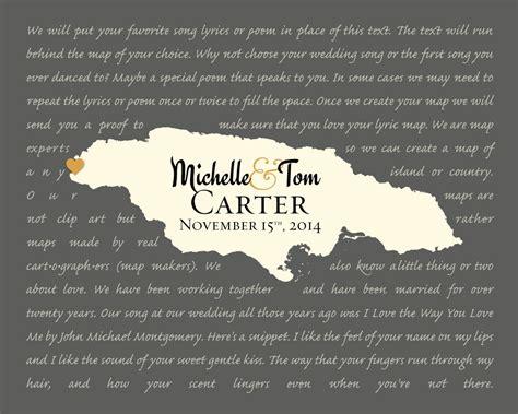 Song Lyrics Print Custom Wedding Gift Personalized By