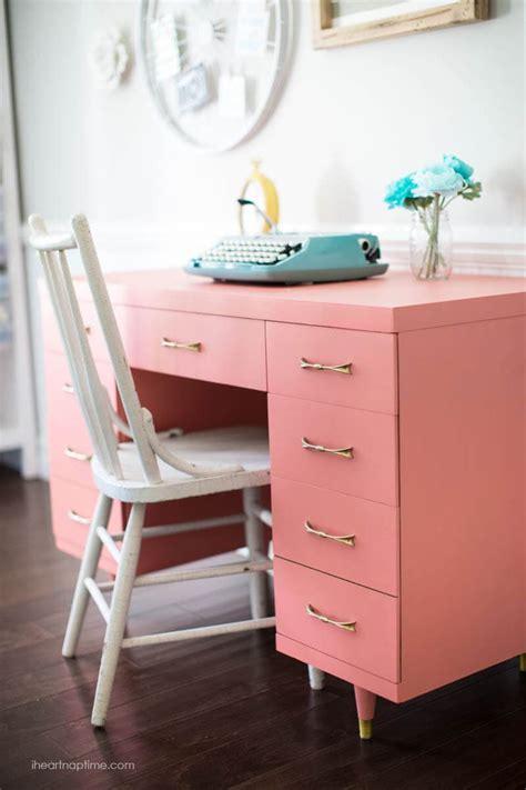 chalk paint desk makeover  heart nap time