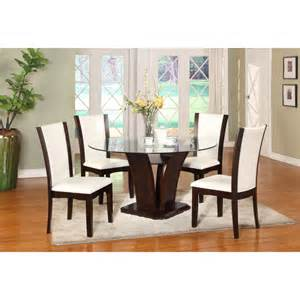 glass dining room table set manhattan 5pc dining table