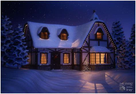 Winter Cottage Winter Cottage 3d Models Rpublishing