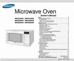 Samsung Microwave Oven Mw630wa User U0026 39 S Guide