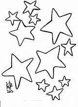 Star Printable Outline Coloring Popular Shooting Template sketch template
