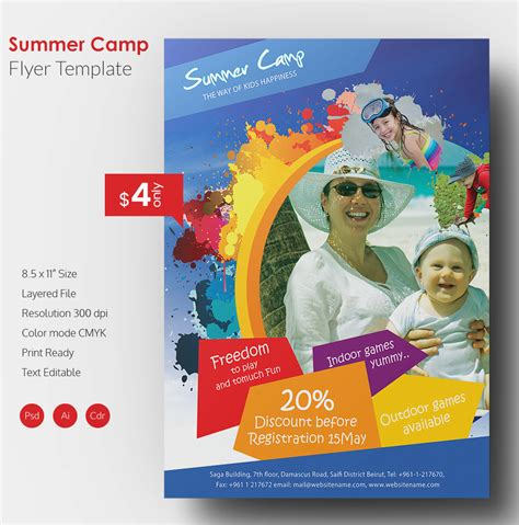 summer flyer templates free summer camp flyer template 41 free jpg psd esi