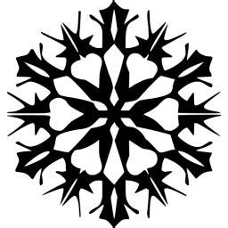 black snowflake  icon  black snowflake icons