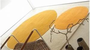 Tapis Laine Blanc : tapis en laine de luxe or et blanc ~ Melissatoandfro.com Idées de Décoration