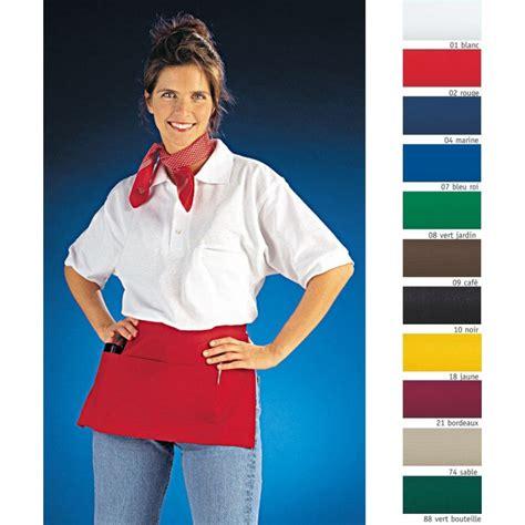 veste de cuisine manche courte tablier court avec poches pour restaurant bar café