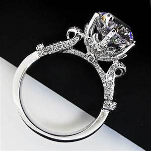 Large lab created diamond engagement ring compare with the for Lab created diamond wedding rings