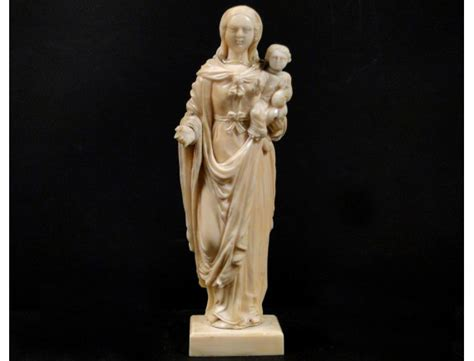 dieppe ivory sculpture madonna  child jesus xviiith