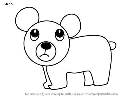 learn   draw  cartoon bear cartoon animals step