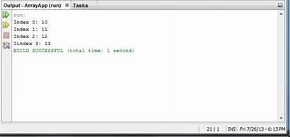 Array Java Declaration Using Ide Netbeans Loop
