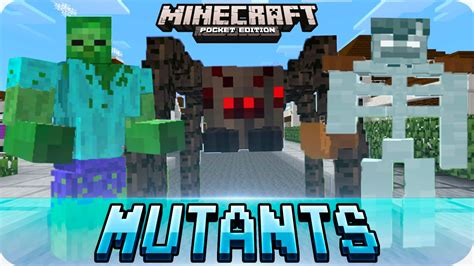minecraft pe mods mutant creatures mod epic creatures