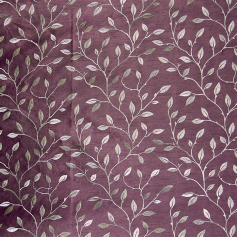 drapery material plum purple asian embroideries drapery and upholstery fabric