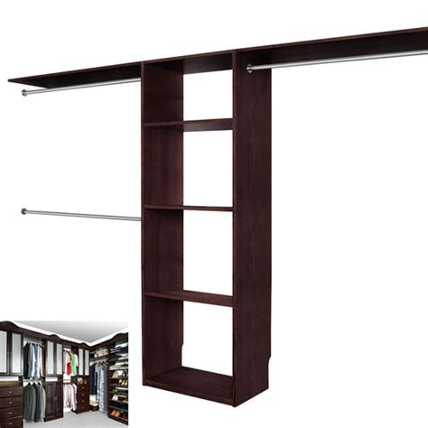 Espresso Closet Organizer by Solid Wood Closets Walk In Closet Organizer System