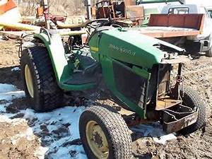 Salvaged John Deere 4600 Tractor For Used Parts