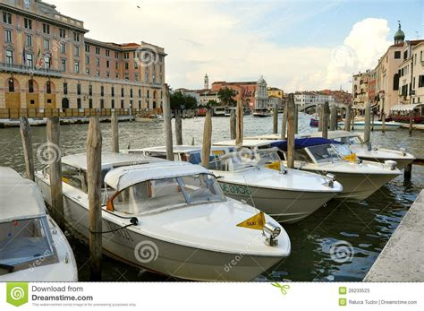Boat Prices In Venice by Taxi Boats In Venice Italy Editorial Stock Photo Image