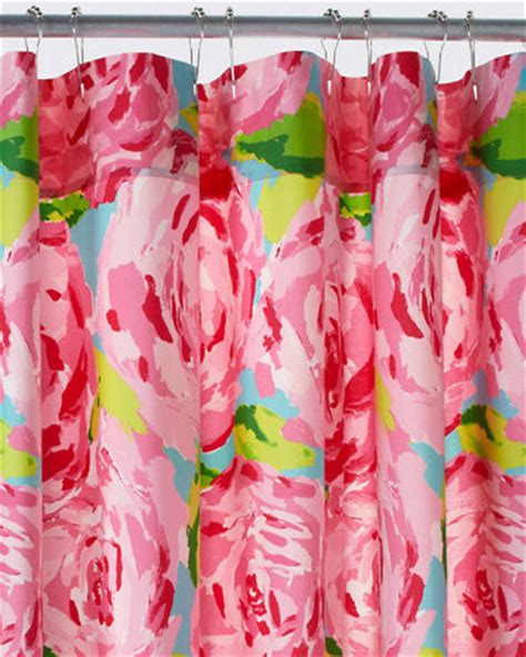 lilly pulitzer curtains lilly pulitzer florals shower curtain
