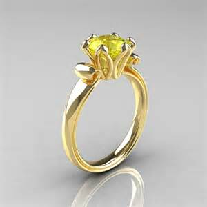 yellow sapphire engagement rings antique 10k yellow gold 1 5 ct yellow sapphire engagement ring ar127 10kygys