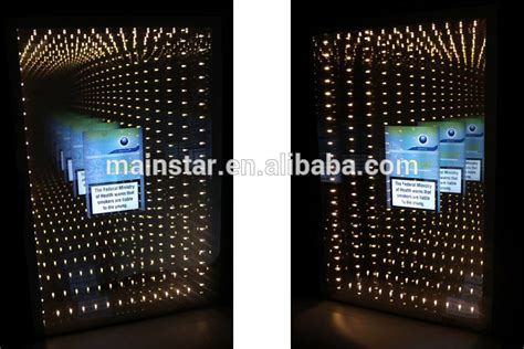wall mounted advertising acrylic magic mirror led tunnel