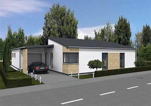 Bungalow Mit Garage Bauen : moderner bungalow nova dialuxe massivhaus berlin ~ Lizthompson.info Haus und Dekorationen