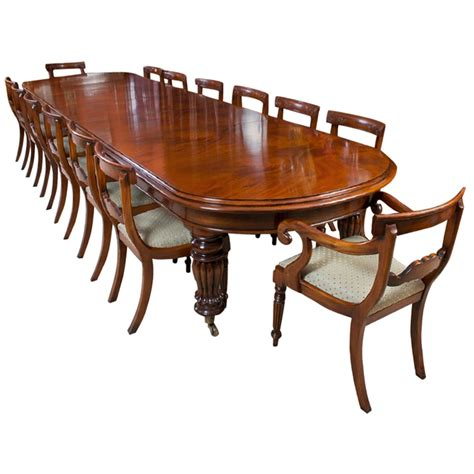mahogany dining table and chairs vintage mahogany dining table with 14 chairs 9257