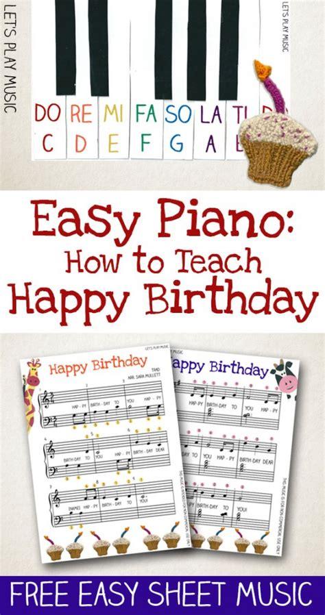 easy piano    teach happy birthday
