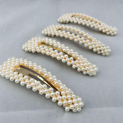 faux pearl hair barrette
