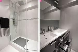 Chauffage Infrarouge Salle De Bain : avant apr s une salle de bains lumineuse et ~ Dailycaller-alerts.com Idées de Décoration