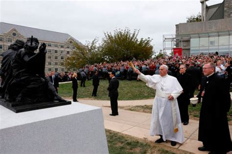 pope francis  unscheduled stop  st josephs