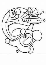 Alien Coloring Pages Doraemon Cute Netart sketch template