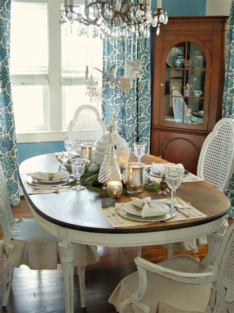 classic silver  white christmas table decor hgtv