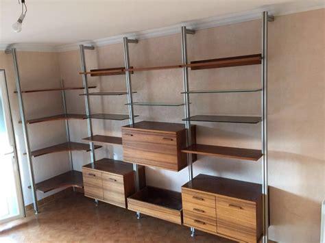 siege d atelier bibliotheque vintage scandinave bois verre aluminium