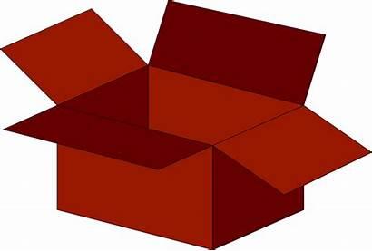 Box Empty Clipart Open Illustration Cliparts Clip