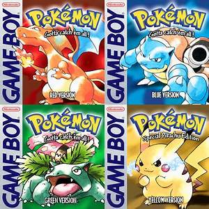 Pokemon Red, Blue, Green and Yellow Covers by JadeLune on ...