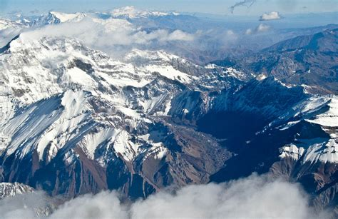 THE ANDES MOUNTAINS FROM 20,000 FEET