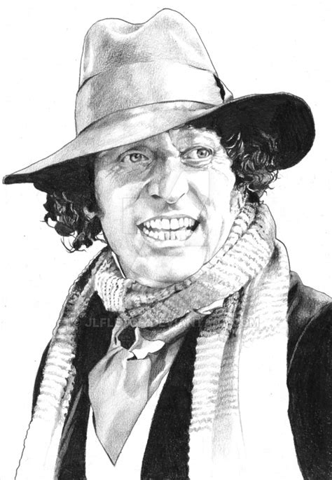 doctor who l tom baker pencil by jlfletch on deviantart