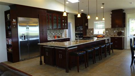 espresso cherry c c cabinets and granite