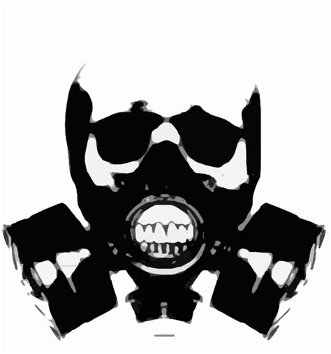 skull gas mask bones clip art  clkercom vector clip