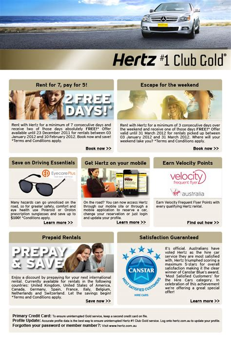 Hertz Australia Contact by Hertz Offers For 1 Club Gold Members