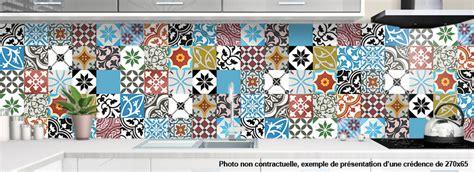 meuble cuisine vintage credence a coller pour cuisine carreaux ciment patchwork